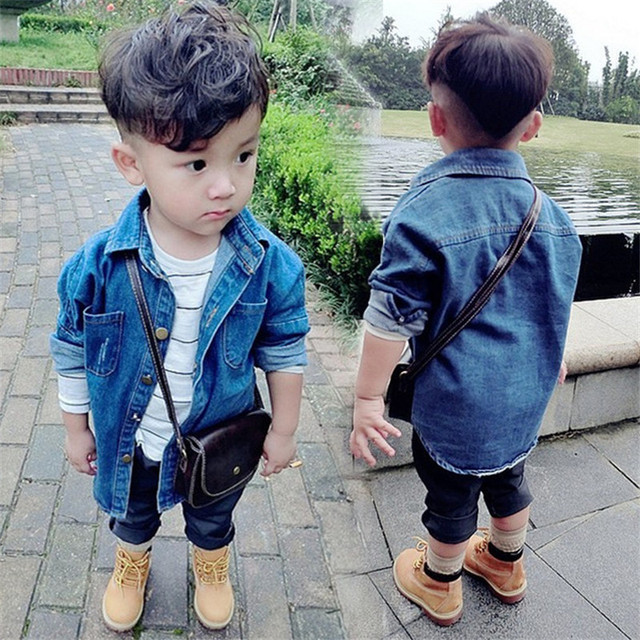 Kids Boys Cowboy Jacket 2018 Spring Solid Children Jackets Coat Baby Girl Boys Windbreaker Outerwear Jacket Toddler Denim Coat
