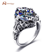2017 Austrian Crystal Luxury Rings Jewelry 925 Sterling Silver White Zirconia December Birthstone Ring For Weeding Party Gift