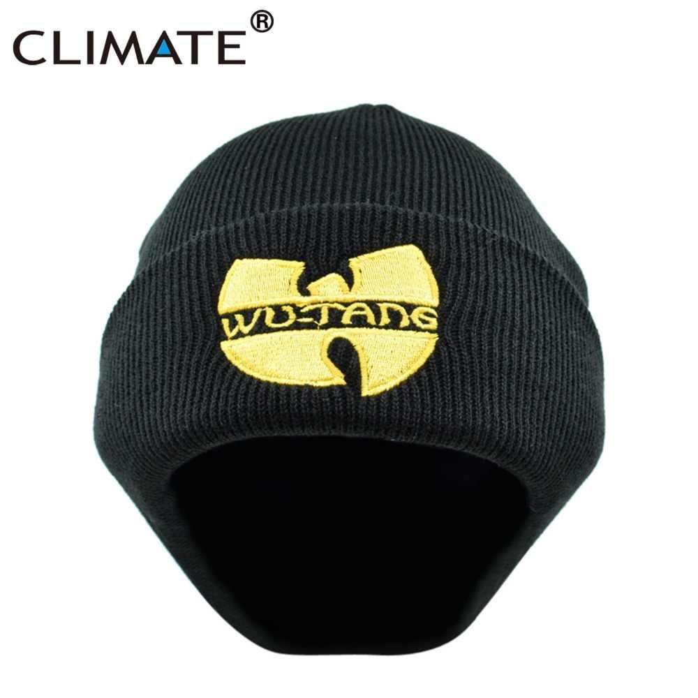432e439b47e CLIMATE Men Women Wutang Winter Warm Beanie Hat Musice Skullies Knitted  Soft Wu Tang WU-