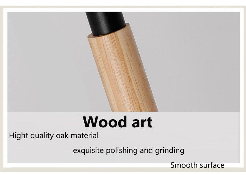 oak wood desk lamp