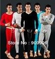 Moda 5 colores Para Hombre Modal Long Johns Conjunto Termal Johns Thermo Top de Manga Larga Camisa Pantalones de Chándal WJ7031