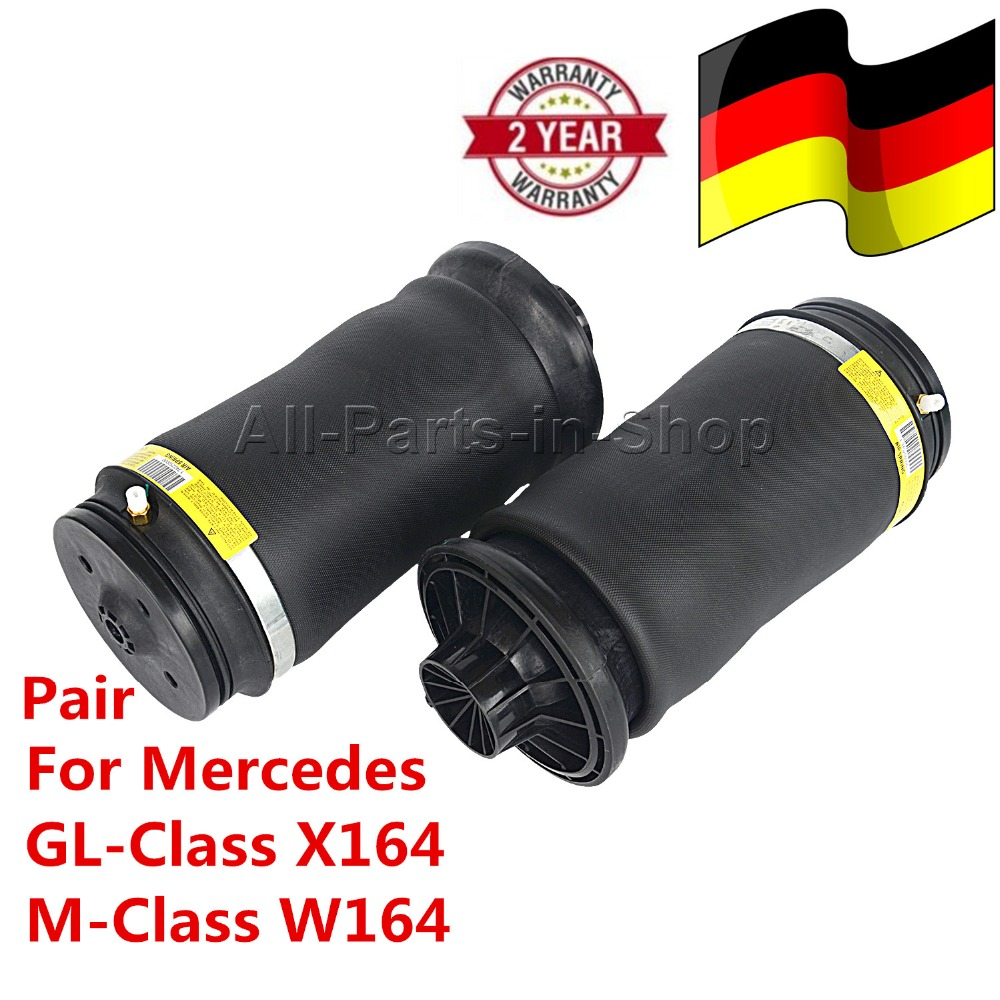 1643200225 1643200425 1643200625 1643200725 Pair Rubber Air Suspension bellow for Mercedes GL-Class X164/M-Class W164 2005-2011 airmatic suspension bag for mercedes w164 ml class rear 1643200625 pair gl450 x164 luftfederung springs