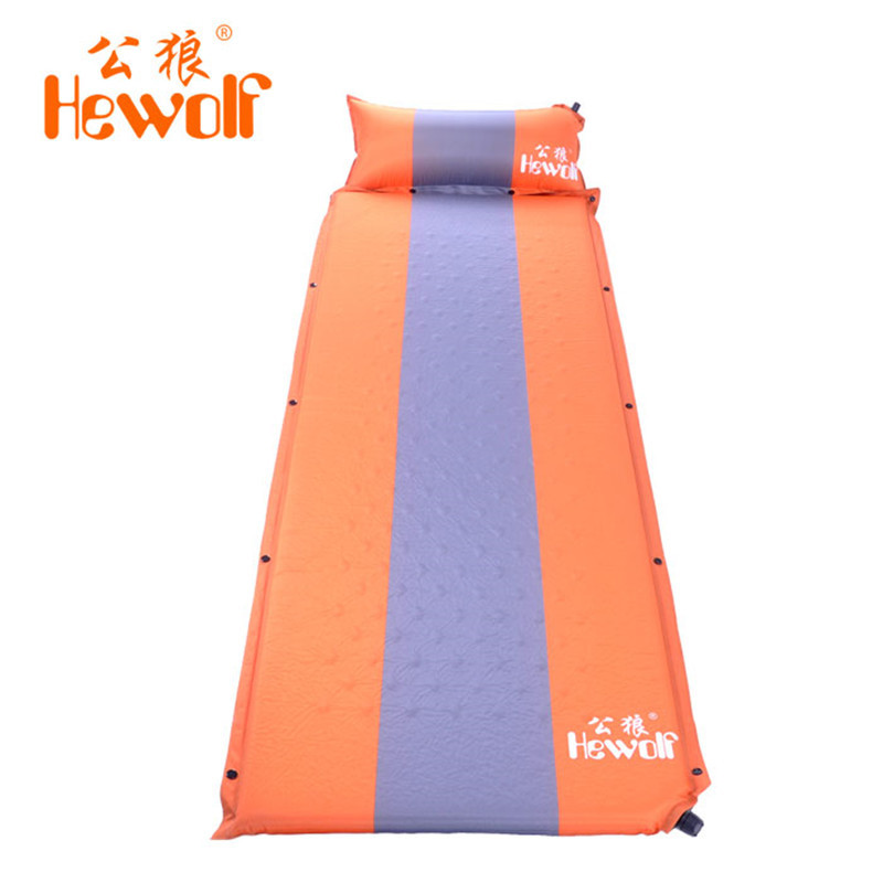 ФОТО Waterproof Outdoor Camping Mat Automatic Self-Inflat Beach Cushion Air Mattress Coussin Seat Foldable Pad With Splicing Pillow