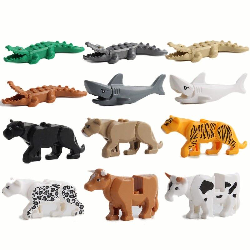 בעלי החיים סדרת גדול חלקיקים דגם בניין בלוקים בעלי חיים חינוכיים לילדים לילדים מתנה תואם עם Legoed לבנים