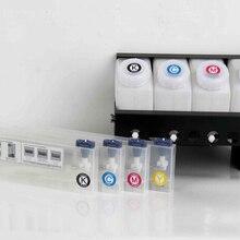 4 цвета СНПЧ чернила системы для Roland/Mimaki/Mutoh широкоформатный принтер чернила большой емкости системы(4+ 4 картриджа