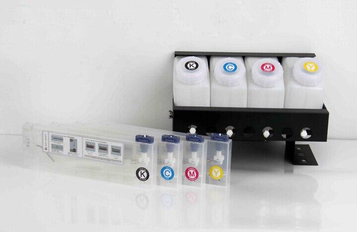 4 couleur CISS système d'encre pour Roland/Mimaki/Mutoh grand format imprimante système d'encre en vrac (4 réservoirs + 4 cartouches)