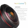 Meike MK-E-8-3.5 8mm f/3.5 Fisheye Lens for Sony a7/a7ii/a7rii/a7sii/a6000/a6300 Cameras with APS-C/Full Frame