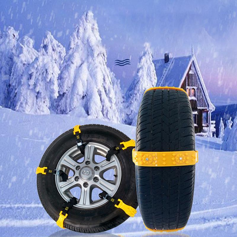 LumiParty 10 pièces/ensemble TPU voiture neige chaînes universel voiture neige pneu chaînes boeuf Tendon véhicules roue antidérapant TPU chaîne r30 - 4