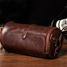 Real Brand Hot Sale New Fashion Men Bags Small Shoulder Bag Cylindrical Shape Men Messenger Bag Crossbody Leisure Bag