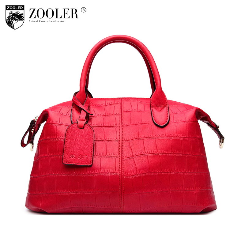 ZOOLER Biggest sale High Quality genuine leather bag woman luxury handbags women bags designer Super soft bolsa feminina#3606 zooler 2018 high quality genuine leather bag luxury handbags women bags designer shoulder bag bolsa feminina c151