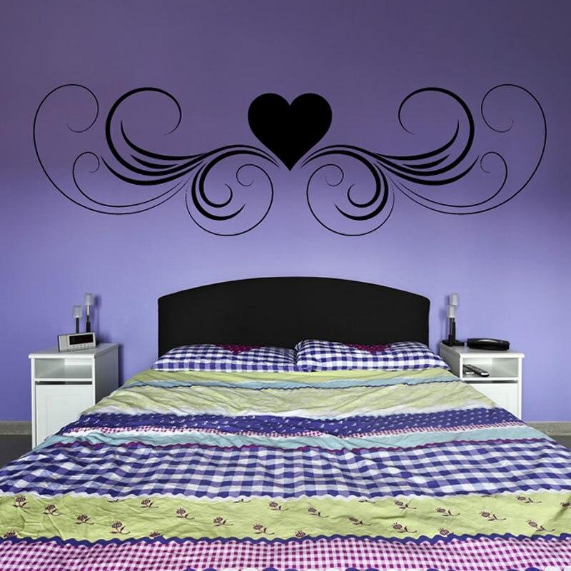 Swirl Headboard  Bedroom Bed Decorative Shape Wall Decals