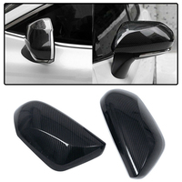 Carbon Fiber Style ABS Side Door Rearview Mirror Cover Trim For TOYOTA CAMRY 201