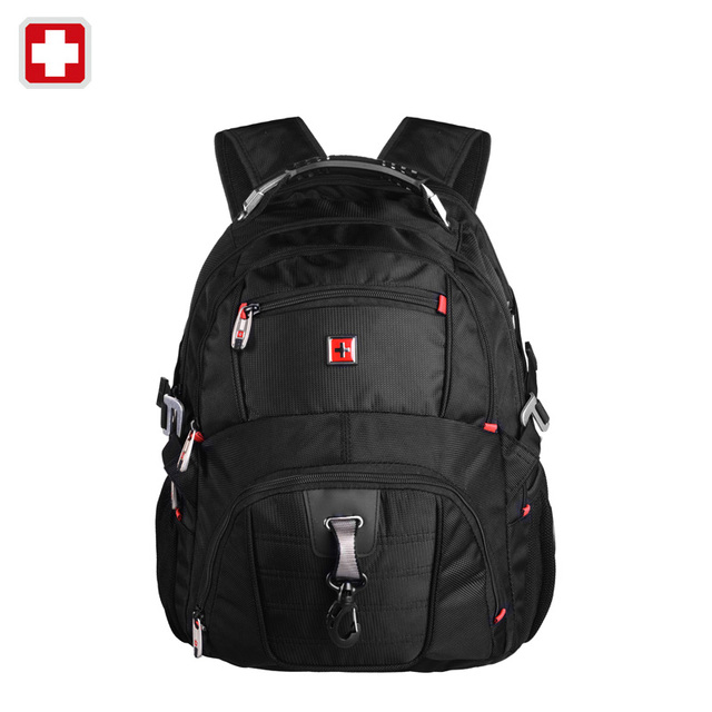 "Swisswin pegasus quality laptop bag sw8112 i women  men double-shoulder travel backpack military 17"" laptop bags  brand sale"