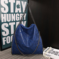 Women falabellas bag with 3 chains women shoulder bag fold over bags with chains Q1