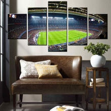 Modern Canvas Wall Decor Football Soccer Field Poster Stadium Photo 5 Pieces Canvas Painting for Boys Room Decor Dropshipping soap stadium inflatable water soccer field inflatable football field with