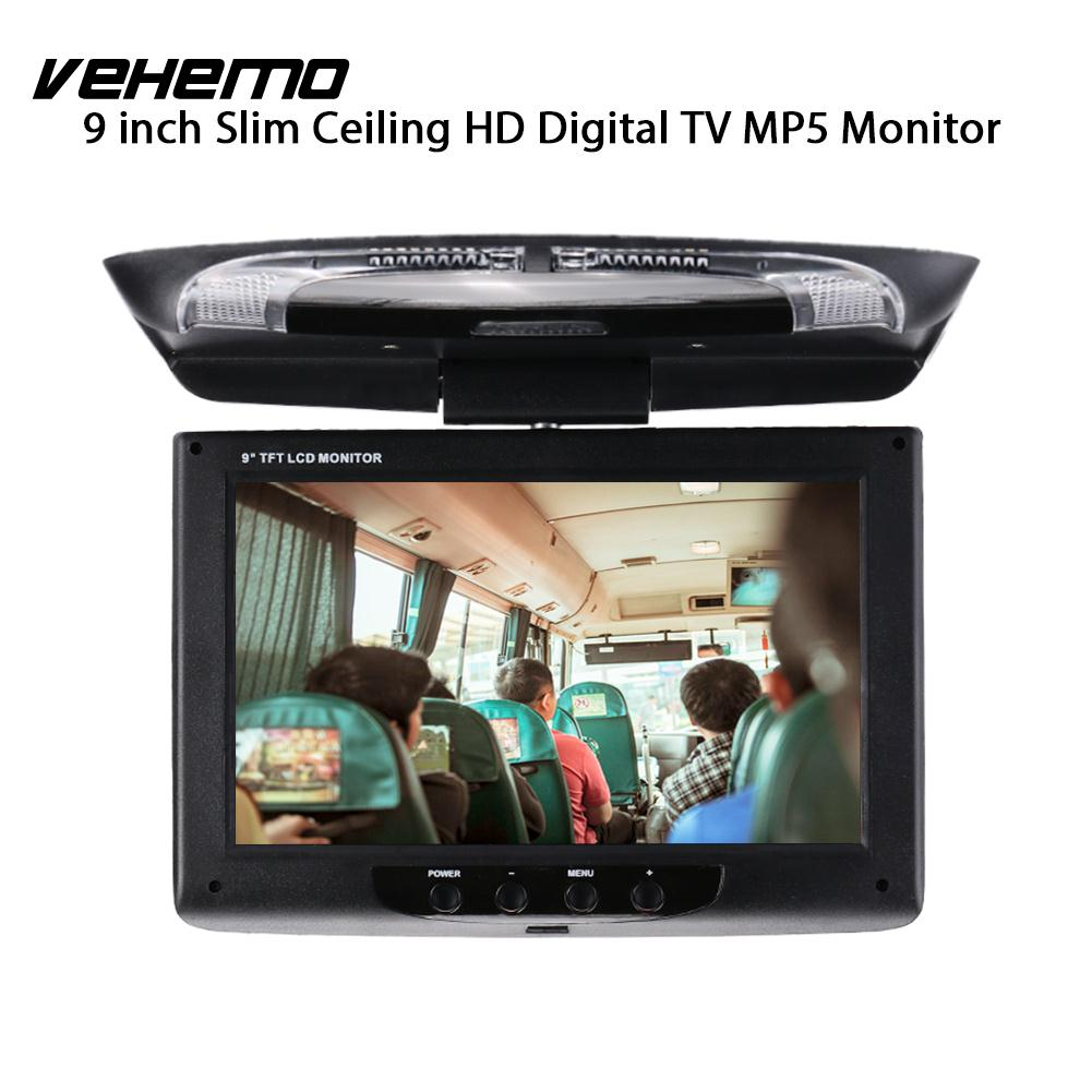 Vehemo 9 Inch TFT-LCD Screen Car Monitor Car Displayer Flip Down Roof Mount Monitor Car DVD Monitor Overhead Vehicles Smart купить в Москве 2019