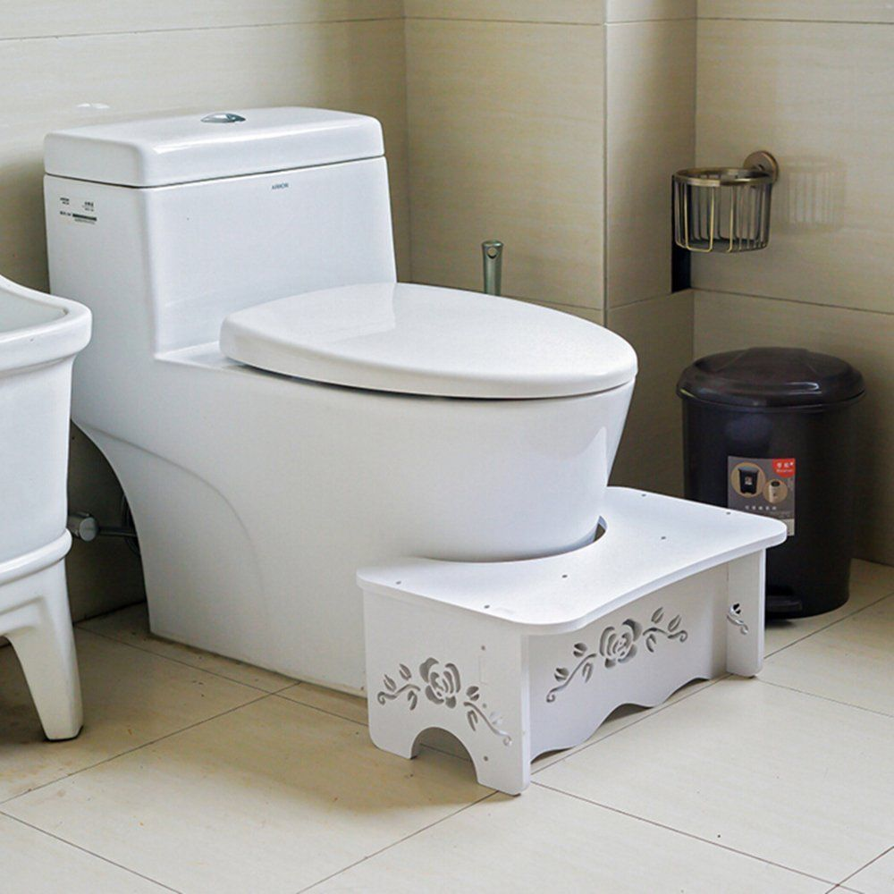Bathroom Toilet  Stool  Bench for commode  Aid Squatty Step Foot Stool for Potty Help Prevent Constipation mds89664h steel bedside commode