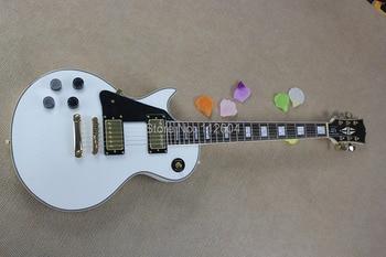 17. New Arrival Musical best White 6 strings Left-handed Electric Guitar Custom guitar