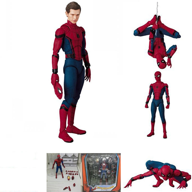 Image 4 - DC Justice League Super Hero MAFEX MAF Batman 056 Flash 058 Wonder Woman 048 Superman 057 Spiderman 047 Action Figure Toy DollAction & Toy Figures   -