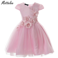 Cielarko Kids Girls Princess Dress Toddler Bridesmaid Dress Child Party Wedding Dresses Flower Sashes Frock Girl