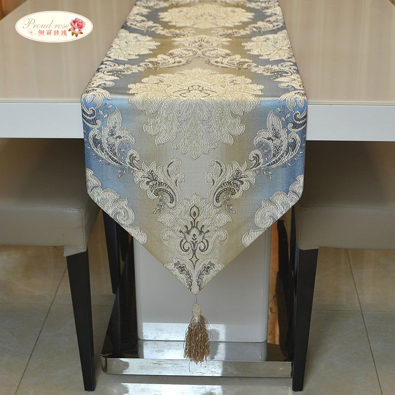 Proud Rose Fashion Gradient Table Cloth Table Runner European Style Table Flag Bed Flag Modern Household Dining Table Decoration