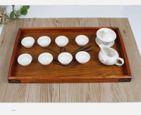 1PC Visual Touch Tanoak Wood Dinning Bread Breakfast Tray Serving Trays for Dessert Cake Cupcake Fruit Large Tea Tray MF 009