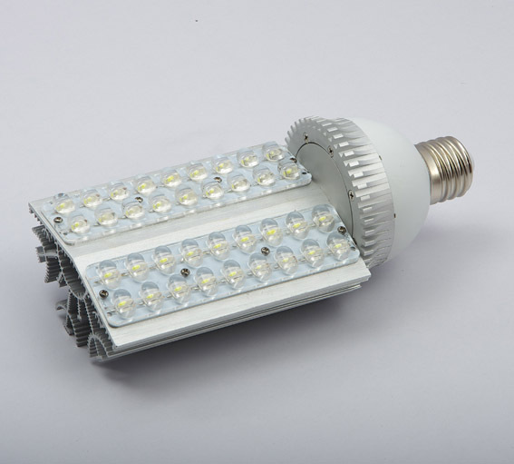 2015 Free Shipping:1pcs/lot E40/27 Base Led Street Light Bulbs With 36*1w Power, 85 To 265v Ac Voltage, Ce And Rohs-certified free shipping 1pcs lot 42wled street light e26 27 e39 40 led base rotation 360 degress ac85 265v input voltage ip54 ce rohs
