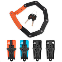 8 Joints Alloy Steel Folding Bike Lock Anti hydraulic with Mounting Bracket Accessories ALS88
