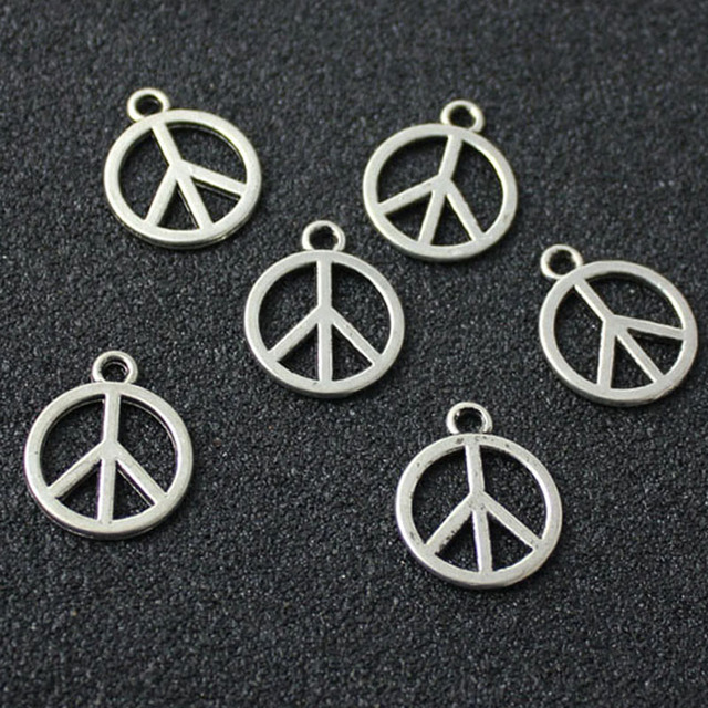 20pcs tibetan silver plated peace sign charms pendants for jewelry 20pcs tibetan silver plated peace sign charms pendants for jewelry making diy handmade mozeypictures Image collections