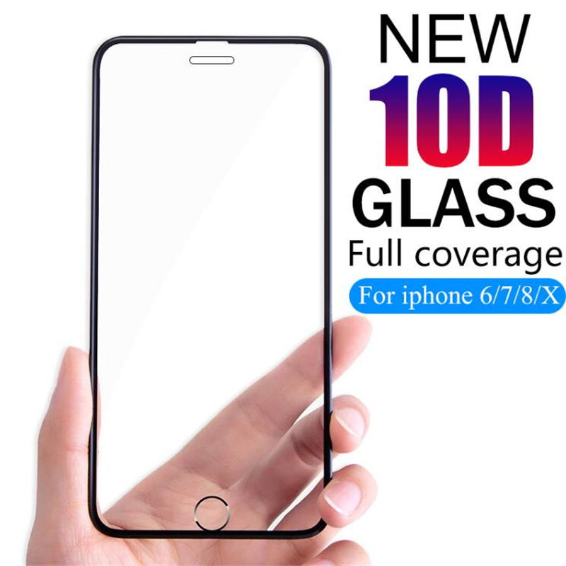 2Pcs 10D Advanced Tempered Glass For iPhone X Screen Protector On The For iPhone 6 6s 7 8 Plus Max Glass Screen Protection Film in Phone Screen Protectors from Cellphones Telecommunications