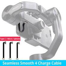 75Mm Liền Mạch Mịn 4 Sạc Cáp Lightning Loại C Cáp Micro USB Cho Samsung Iphone 7 8 X HUAWEI Zhiyun Smooth 4