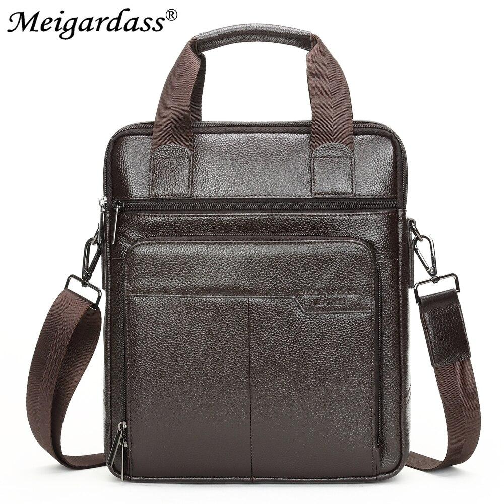MEIGARDASS หนังแท้กระเป๋าเอกสารกระเป๋าเดินทางผู้ชาย Messenger กระเป๋าชายกระเป๋าเอกสารกระเป๋าถือกระเป๋าคอมพิวเตอร์แล็ปท็อป-ใน กระเป๋าเอกสาร จาก สัมภาระและกระเป๋า บน AliExpress - 11.11_สิบเอ็ด สิบเอ็ดวันคนโสด 3