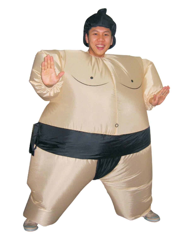 Halloween Nadmuchiwane Sumo Suits Zapaśnik Kostiumy Stroje Fat Man - Kostiumy - Zdjęcie 5