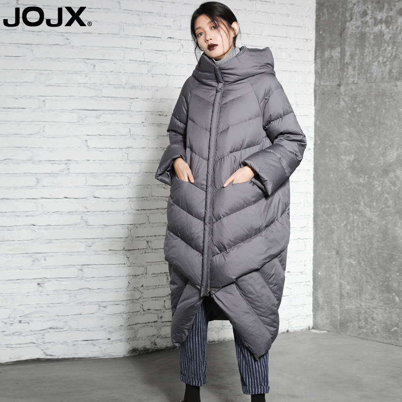 JOJX Winter Jacket Women 2018 New Parka Women Stitching Hooded Long Loose coats Down Winter Coat