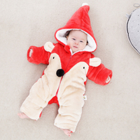 Winter Newborn Infant Baby Clothes Thickening Keeping Warm Clothing Romper Animal Style Baby Girl Boy Romper