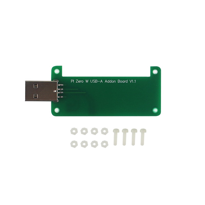 Raspberry Pi Zero Add-on Board BadUSB Extension Board USB Type-A Connector U Disk Acrylic Case For Raspberry Pi Zero W WH 1.3