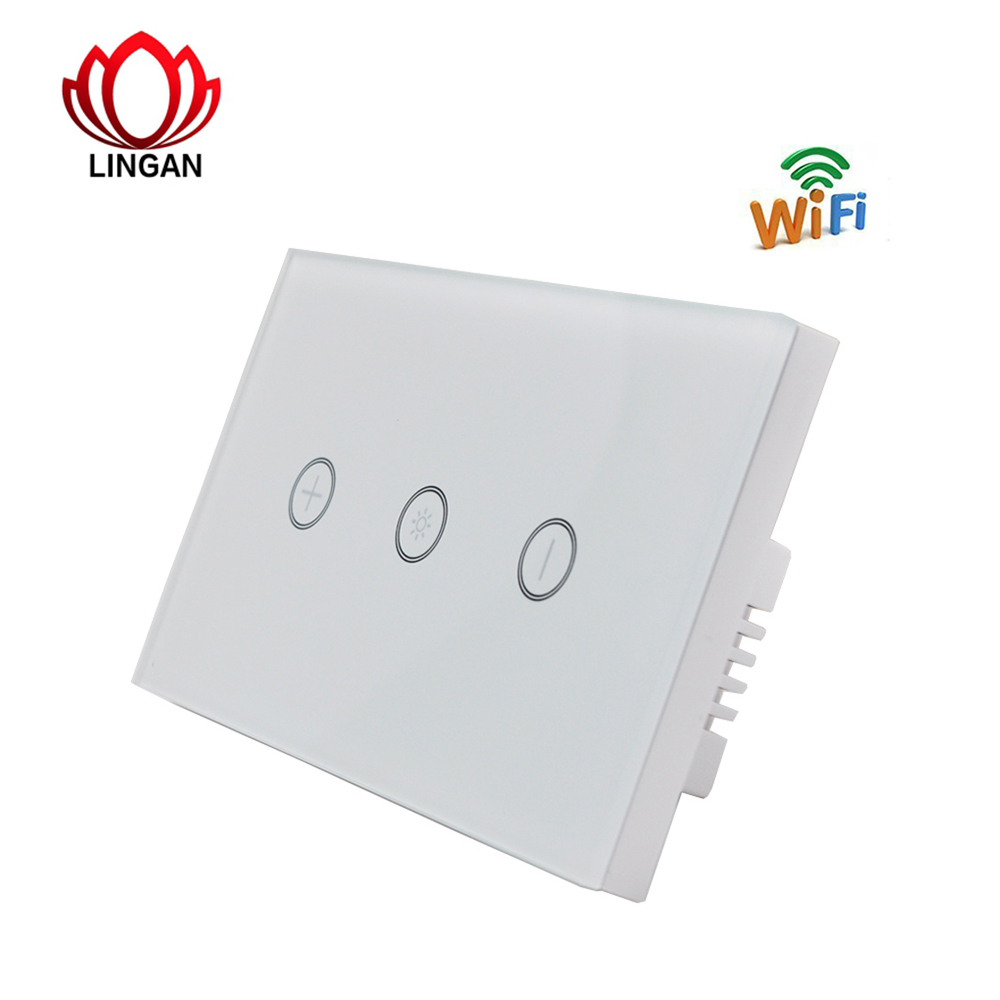 Smart Home Switch Wireless WiFi Glass Panel Timing Touch Sensor Light-Dimmer Wall Switch on-off Remote Controller us 1gang remote controller switches tempered glass panel hand touch switches bedroom light switch smart home wall switch