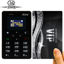 Russian keyboard AIEK M5 Slim mini Card Mobile Phone 4.5mm Ultra Thin Pocket cell Phones Low Radiation AEKU
