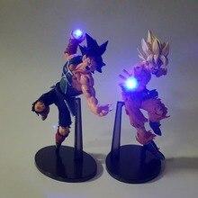 Dragon Ball Z фигурка Сон Гоку лопуха Kamehameha Led Light 150 мм аниме Жемчуг дракона Супер Saiyan DBZ