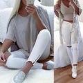 Novo 2016 Mulheres Denim Rasgado Calças Jeans Stretch de Cintura Alta Fino Lápis Calças Skinny