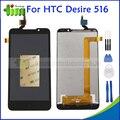 Новый Оригинальный Качество Для HTC Desire 516 ЖК-Дисплей + Сенсорный Экран с Digitizer Ассамблеи Запасные Части + Инструменты