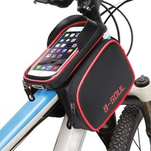 Cycling Bike Front Frame Bag Tube Pannier Double Pouch for 5.5-6.2Inch Cellphone Bicycle Accessories Riding Bag 2017 New