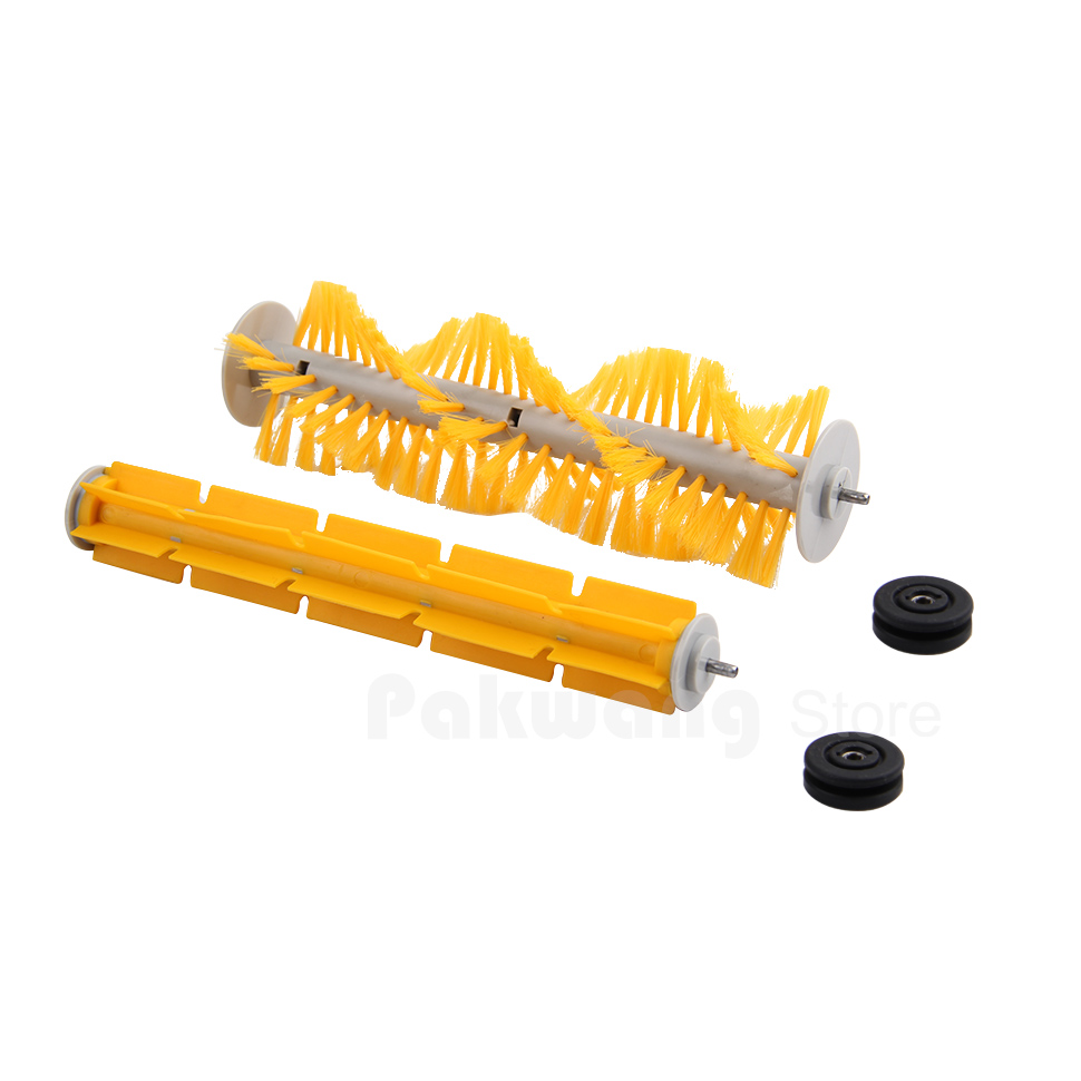 Robot vacuum cleaner A325 Spare Parts hair brush,Rubber Brush original brush for a325 robot vacuum cleaner spare parts hair brush 1 pc yellow