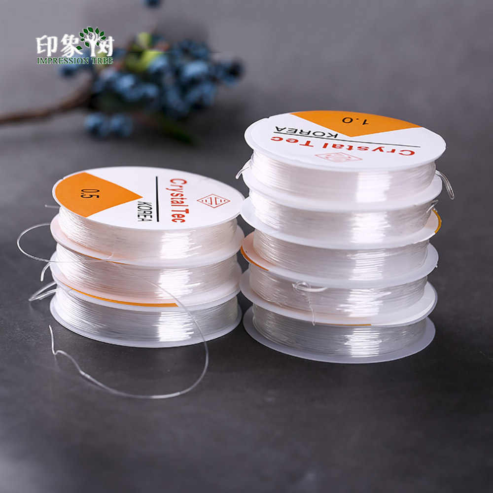 0.5/0.7/0.8/1.0MM Spool Round Corss-Section Crystal Clear Stretch Elastic Beading Wire Cord String Thread DIY Jewelry Making 401