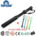 (FREE Shipping) Self Defence XML T6 Rechargeable Telescopic Bat Long Flashlight Torch Baton