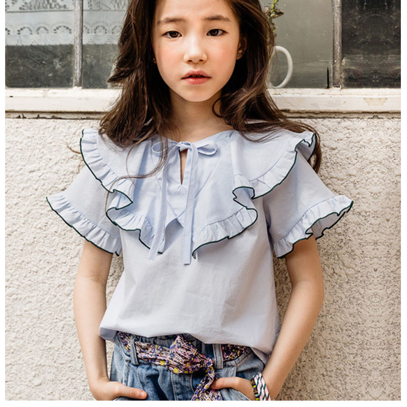 teenage girls tops clothes ruffles new summer blouses for