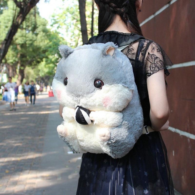 Hamster Plush Backpack Cute Japanese Plush Hamster Backpack Plush Hamster Kids Toy Boys School Bag Gift For Kids