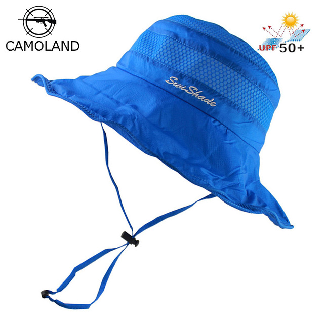 98c41dac1b Lightweight UPF50+ Summer Sun Hat for Mens Womens Bucket Hat Breathable  Mesh Boonie Cap Outdoor Foldable Quickdry UV Protection