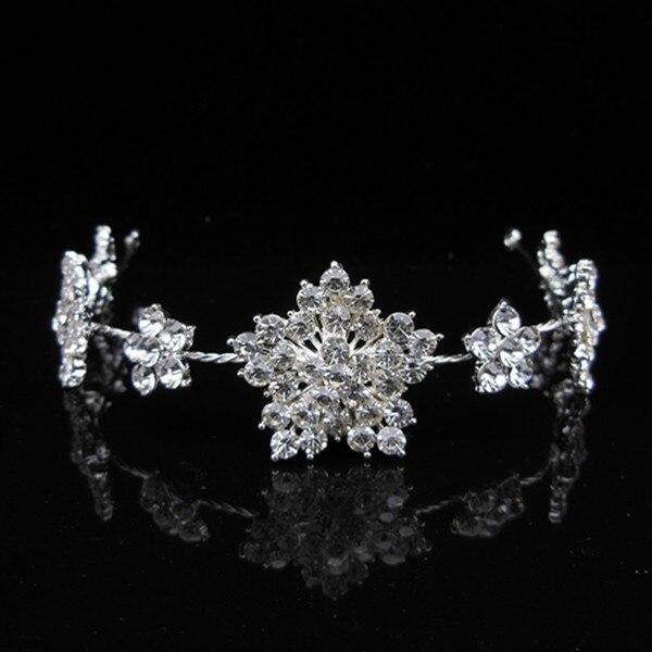 Bridesmaid Jewelry Snowflake Jewelry Tiara Headband Hairband Bridal Wedding Party Prom Rhinestone Crystal Hair Accessory