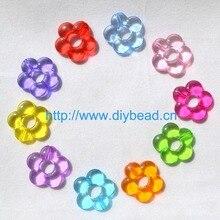 DIY Мода свитер цепи отдел, прозрачный цветок, 20 мм Разноцветные Акриловые сахарные шарики
